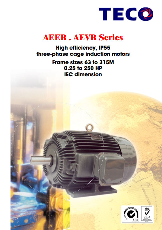Feel free to download TECO Three-Phase Cage Induction Motor's Catalogue here.